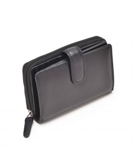 Black Leather Purse - Madame Purses