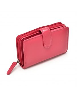 Fuschia Leather Purse - Madame Purses