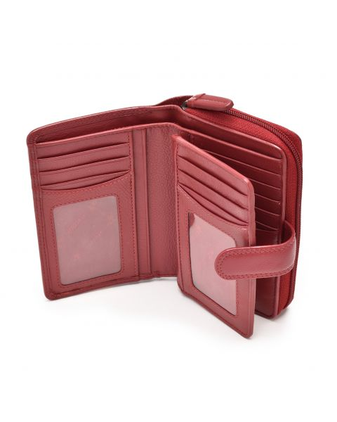 Red Leather Purse - Madame Purses