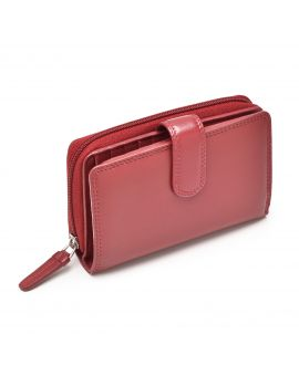 Red Leather Purse - Madame