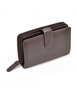 Brown Leather Purse - Madame Purses