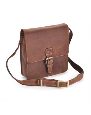 Small Leather Hunter Bag - Tan