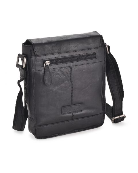 Black Leather Flight Bag - Kingston Leather Bags