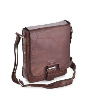 Tan Leather Flight Bag - Kingston Leather Bags