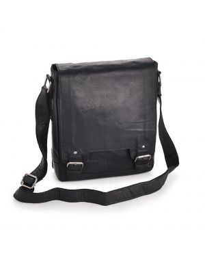 Black Leather A4 Messenger Bag - Kingston Leather Bags