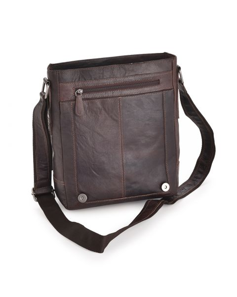 Brown Leather A4 Messenger Bag - Kingston Leather Bags