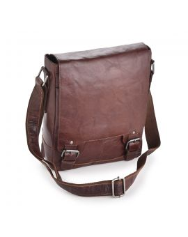 Tan Leather A4 Messenger Bag - Kingston