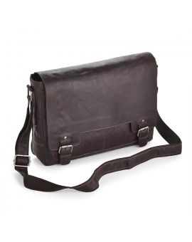 Brown Leather Laptop Bag - Kingston
