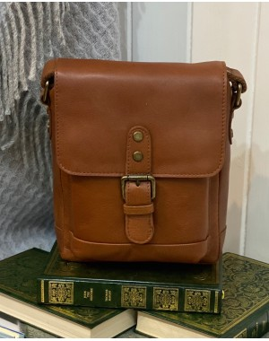 Spitalfields Small Leather Messenger Bag Mens
