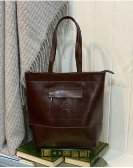 Aran Woollen Mills Leather Shopper