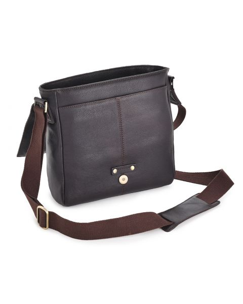 Westminster Brown Leather Bag - Murphy Leather Bags