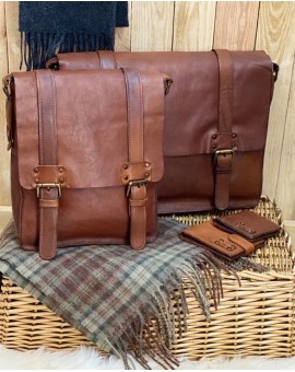 Shoreditch Leather Messenger Bag