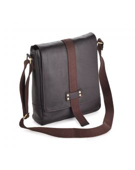 Leather Messenger Bag - Hugo