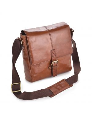 Chelsea Tan Leather Bag - Murphy Leather Bags