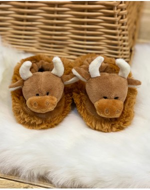 Highland Cow Baby Slippers Childrens