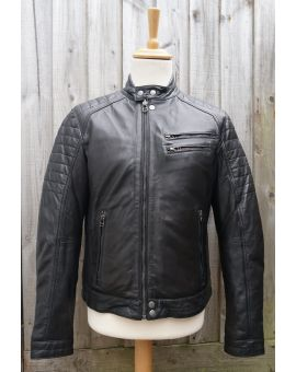 Brampton Leather Biker Jacket - Black Coats & Jackets