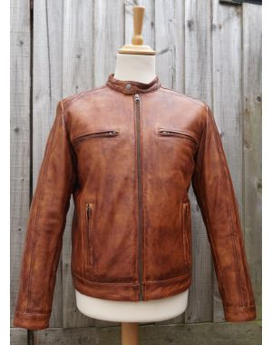 Tan Leather biker Jacket Coats & Jackets