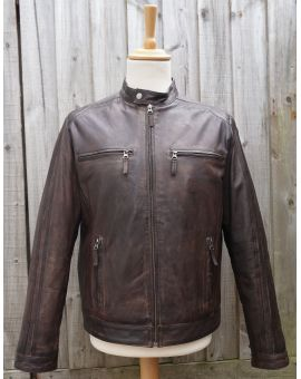 Brown Leather Biker Jacket Coats & Jackets