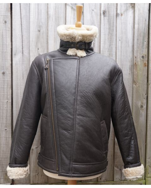 Mens Sheepskin Aviator Jacket Coats & Jackets