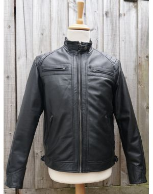 Black Leather Biker Jacket Coats & Jackets