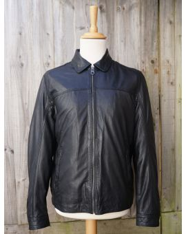 Black Leather Jacket - Stallone Coats & Jackets