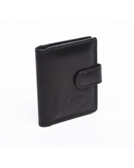 London Leather Credit Card Case - Black Purses