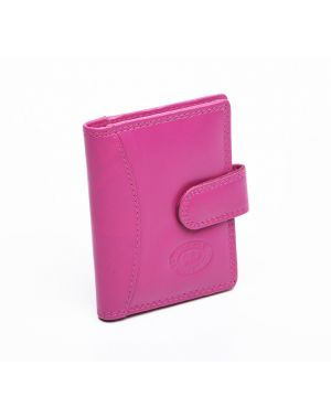London Leather Credit Card Case - Pink Purses