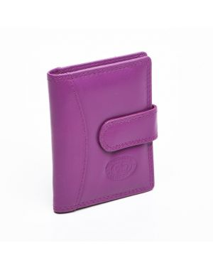 London Leather Credit Card Case - Lilac Purses