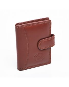 London Leather Credit Card Case - Tan Purses