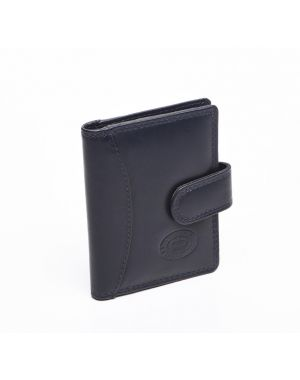 London Leather Credit Card Case - Navy Purses