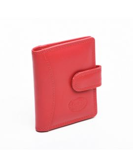 London Leather Credit Card Case - Red Purses