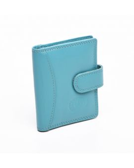 London Leather Credit Card Case - Turquoise Purses