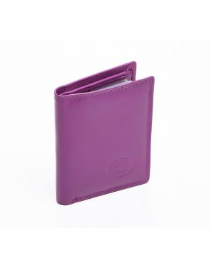 London Leather Credit Card Wallet - Lilac Purses