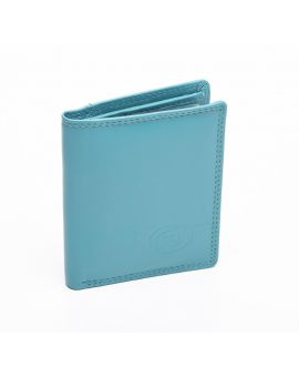 London Leather Credit Card Wallet - Turquoise Purses