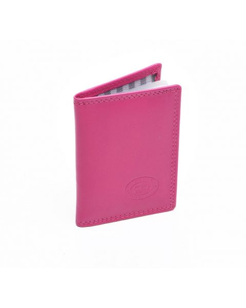 London Leather Credit Card Holder - Pink Purses