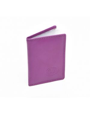 London Leather Credit Card Holder - Lilac Purses