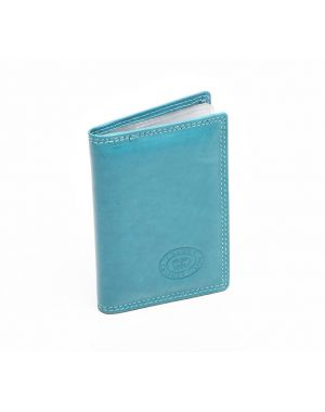 London Leather Credit Card Holder - Turquoise Purses