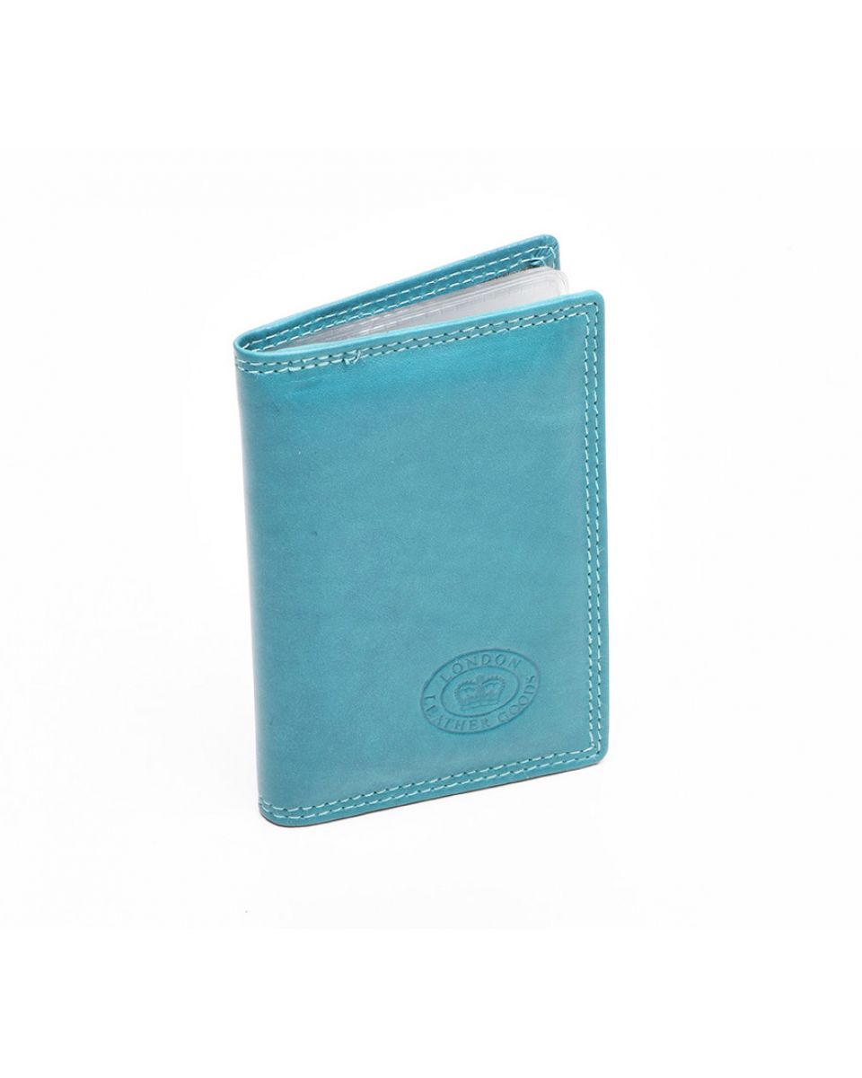 London leather credit card holder turquoise for Home accessories london