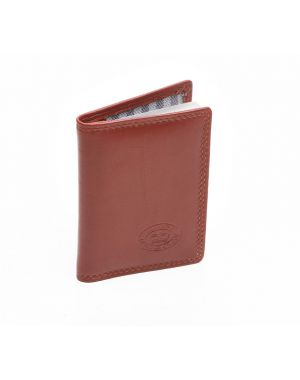 London Leather Credit Card Holder - Tan Purses