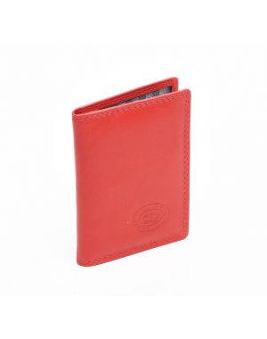 London Leather Credit Card Holder - Red Purses