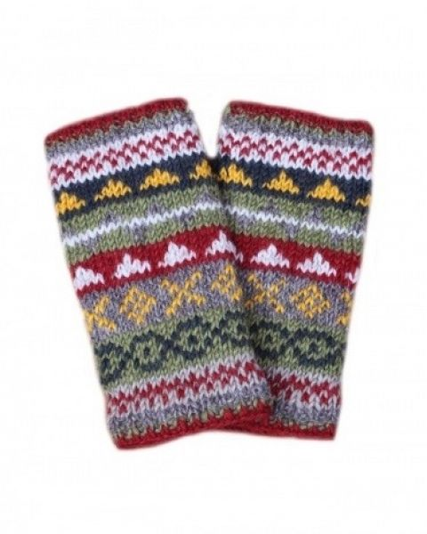 Finisterre Wool Hand Warmers - Rust Gloves