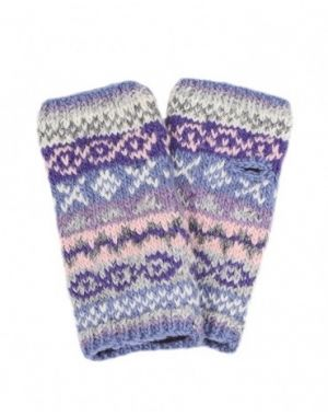 Finisterre Wool Hand Warmers - Jacaranda Gloves