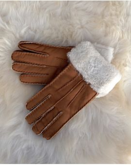 Tan Sheepskin Gloves - Poppy