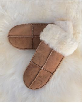 Ladies Sheepskin Mittens - Tan Gloves