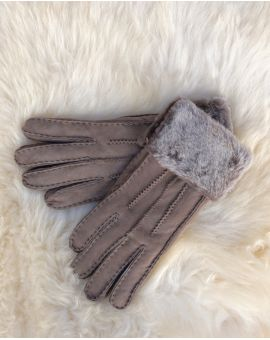 Grey Sheepskin Gloves - Poppy