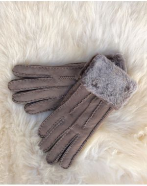 Grey Sheepskin Gloves - Poppy Gloves