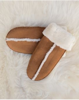 Fenland Sheepskin Mittens - Tan Gloves