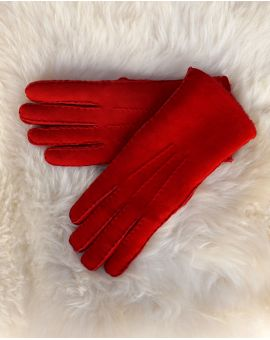 Ladies Lambskin Gloves - Red Gloves