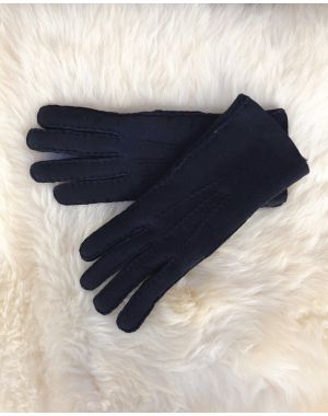 Ladies Lambskin Gloves - Blue Gloves