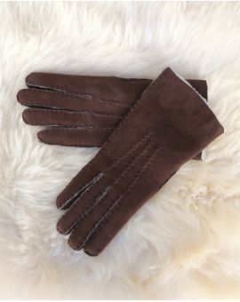 Ladies Lambskin Gloves - Brown Gloves